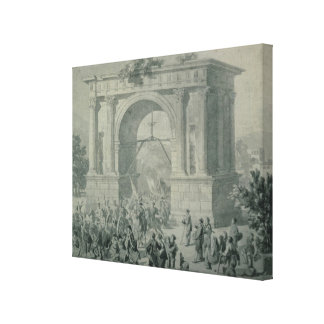 The entrance of French troops to A'Osta Gallery Wrap Canvas
