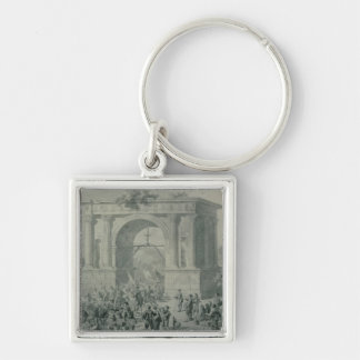 The entrance of French troops to A'Osta Keychain