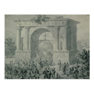 The entrance of French troops to A'Osta Postcard