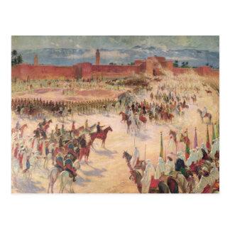 The Entrance of General Lyautey & General Mangin Postcard