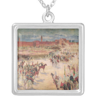 The Entrance of General Lyautey & General Mangin Silver Plated Necklace