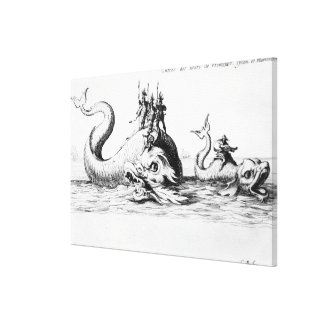 The Entrance of the Lords of Vroncourt, Tyllon Canvas Print