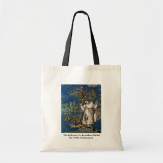 The Entrance To Jerusalem  By Giotto Di Bondone Tote Bags