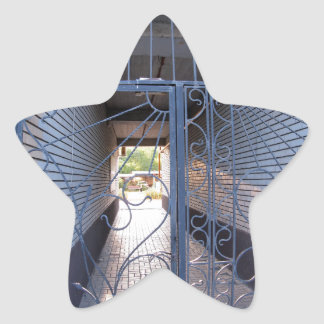 The entrance to the apartment building star sticker