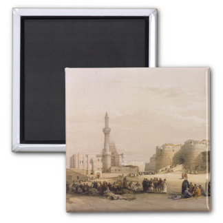 The Entrance to the Citadel of Cairo 2 Inch Square Magnet