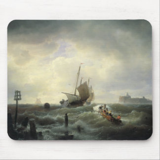 The Entrance to the Harbour at Hellevoetsluys Mouse Pad
