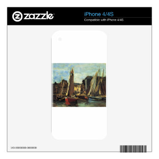 The Entrance to the Port of Honfleur Eugene Boudin Skins For The iPhone 4S