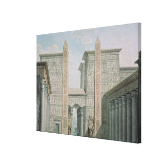 The Entrance to the Temple, Act I scene iii Canvas Print