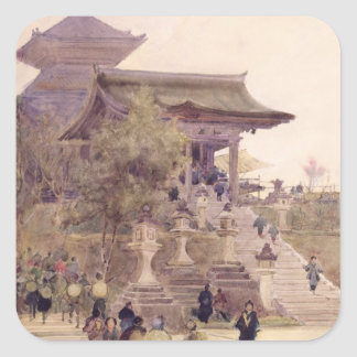 The Entrance to the Temple of Kiyomizu-Dera, Kyoto Square Sticker
