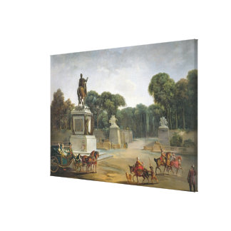 The Entrance to the Tuileries from the Place Canvas Print