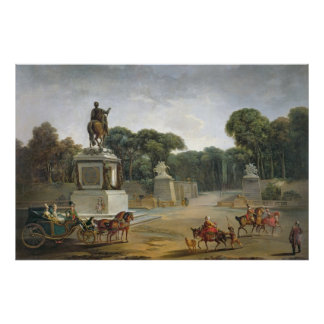 The Entrance to the Tuileries from the Place Poster