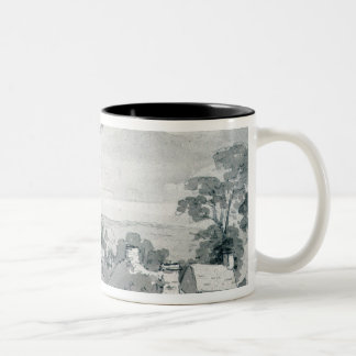 The Entrance to the Village of Edensor, 1801 Two-Tone Coffee Mug