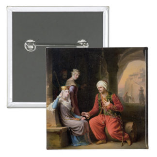 The Entreaty, 1822 (oil on canvas) 2 Inch Square Button