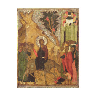 The Entry into Jerusalem, Moscow School Canvas Print