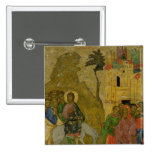 The Entry into Jerusalem, Russian icon 2 Inch Square Button