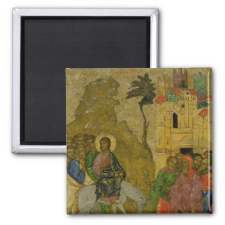 The Entry into Jerusalem, Russian icon Magnet