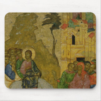 The Entry into Jerusalem, Russian icon Mouse Pad
