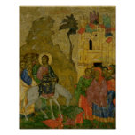 The Entry into Jerusalem, Russian icon Posters