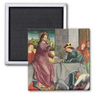 The Entry of Christ into Jerusalem 2 Inch Square Magnet