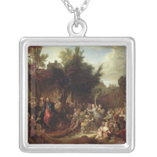 The Entry of Christ into Jerusalem, c.1720 Silver Plated Necklace