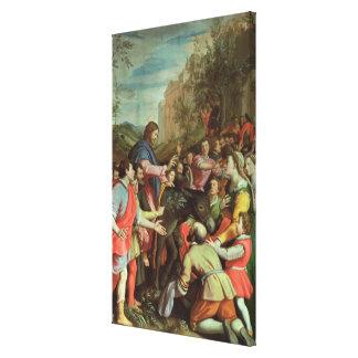 The Entry of Christ into Jerusalem Canvas Print