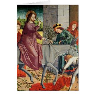 The Entry of Christ into Jerusalem Card