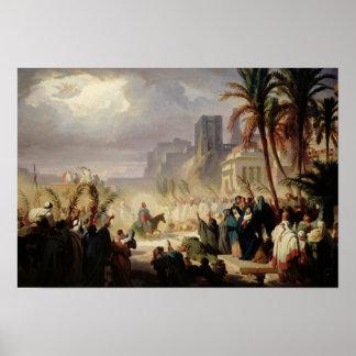 The Entry of Christ into Jerusalem Poster