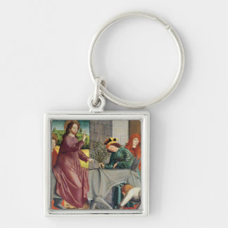 The Entry of Christ into Jerusalem Silver-Colored Square Keychain
