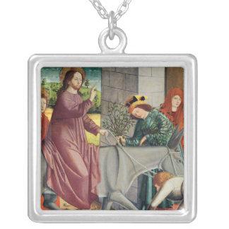 The Entry of Christ into Jerusalem Square Pendant Necklace