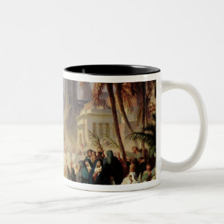 The Entry of Christ into Jerusalem Two-Tone Coffee Mug