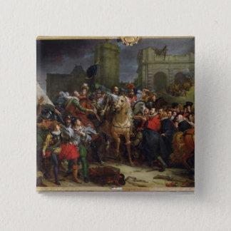 The Entry of Henri IV  into Paris Pinback Button