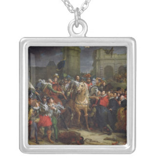 The Entry of Henri IV  into Paris Silver Plated Necklace