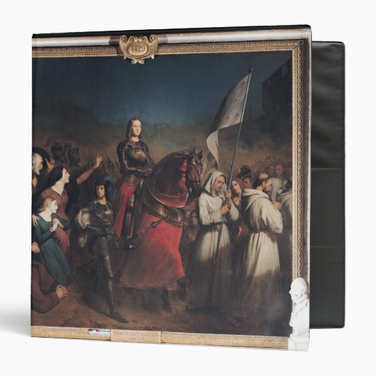 The Entry of Joan of Arc  into Orleans 3 Ring Binder