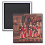 The Entry of Louis of France 2 Inch Square Magnet
