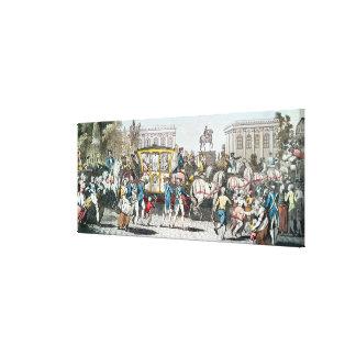 The Entry of Louis XVI  into Paris Canvas Print