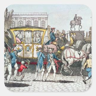 The Entry of Louis XVI  into Paris Square Sticker