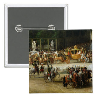 The Entry of Napoleon  and Marie-Louise 2 Inch Square Button