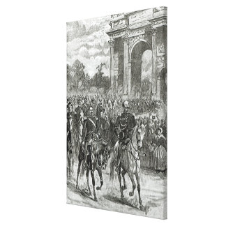 The entry of Napoleon III and Victor Emmanuel Canvas Print