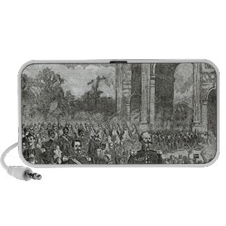 The entry of Napoleon III and Victor Emmanuel iPhone Speakers