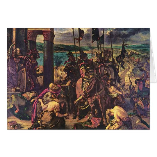 The Entry of the Crusaders into Constantinople Card