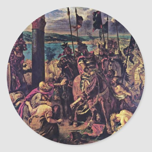 The Entry Of The Crusaders Into Constantinople Classic Round Sticker