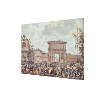 The Entry of the French into Milan Canvas Print