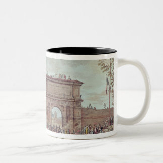 The Entry of the French into Milan Two-Tone Coffee Mug