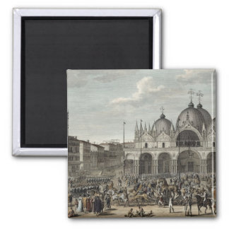 The entry of the French into Venice and the theft 2 Inch Square Magnet