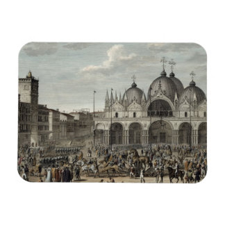 The entry of the French into Venice and the theft Rectangular Photo Magnet