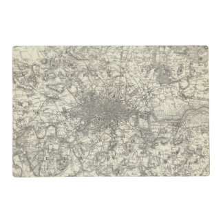 The Environs Of London Placemat