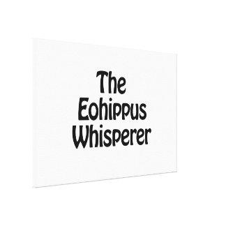 the eohippus whisperer canvas print