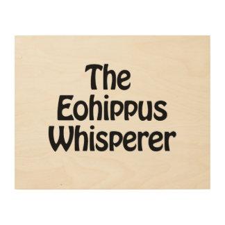 the eohippus whisperer wood wall art