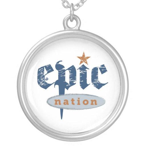 """The Epic Nation"" Original Logo Locket Necklaces"