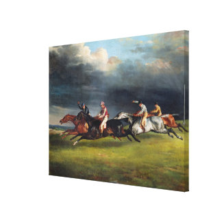 The Epsom Derby, 1821 Canvas Print
